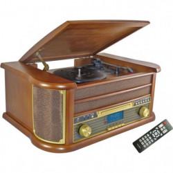 INOVALLEY RETRO29-E Chaîne Hifi vinyle style rétro Bluetooth