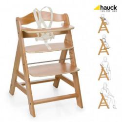 HAUCK Chaise Haute en Bois pour bébé Évolutive Alpha +