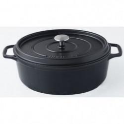 INVICTA Cocotte ovale - Ø 35 cm - Noir - Tous feux