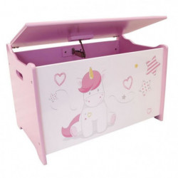 Fun House Licorne coffre a jouets en bois pour enfant