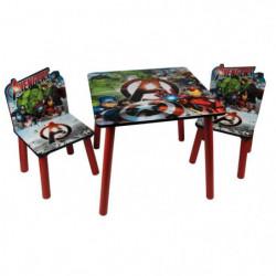 AVENGERS Table et 2 chaises enfant en bois MDF