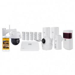 KODAK Pack Alarme maison sans fil avec 2 caméras de surv.