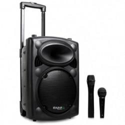 Ibiza Port 8 VHF - Enceinte sono portable avec micro sans fil